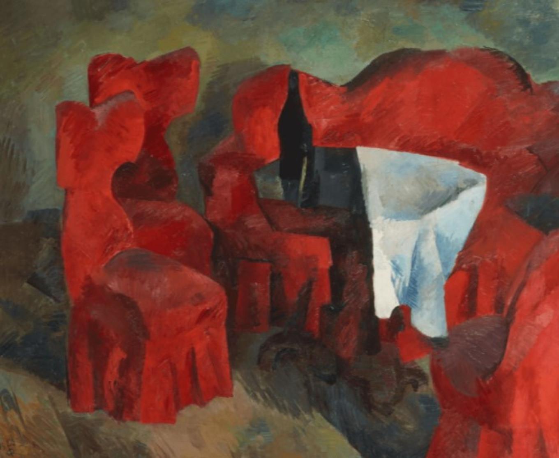 """Red Furniture,"" Robert Falk 1920 State Tretyakov Gallery"