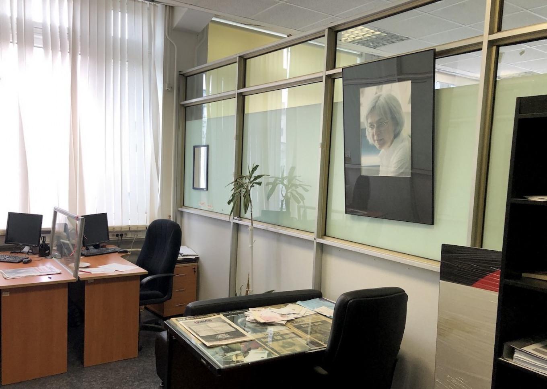 Murdered journalist Anna Politkovskaya's office, which has been left untouched since her death. Felix Light / MT