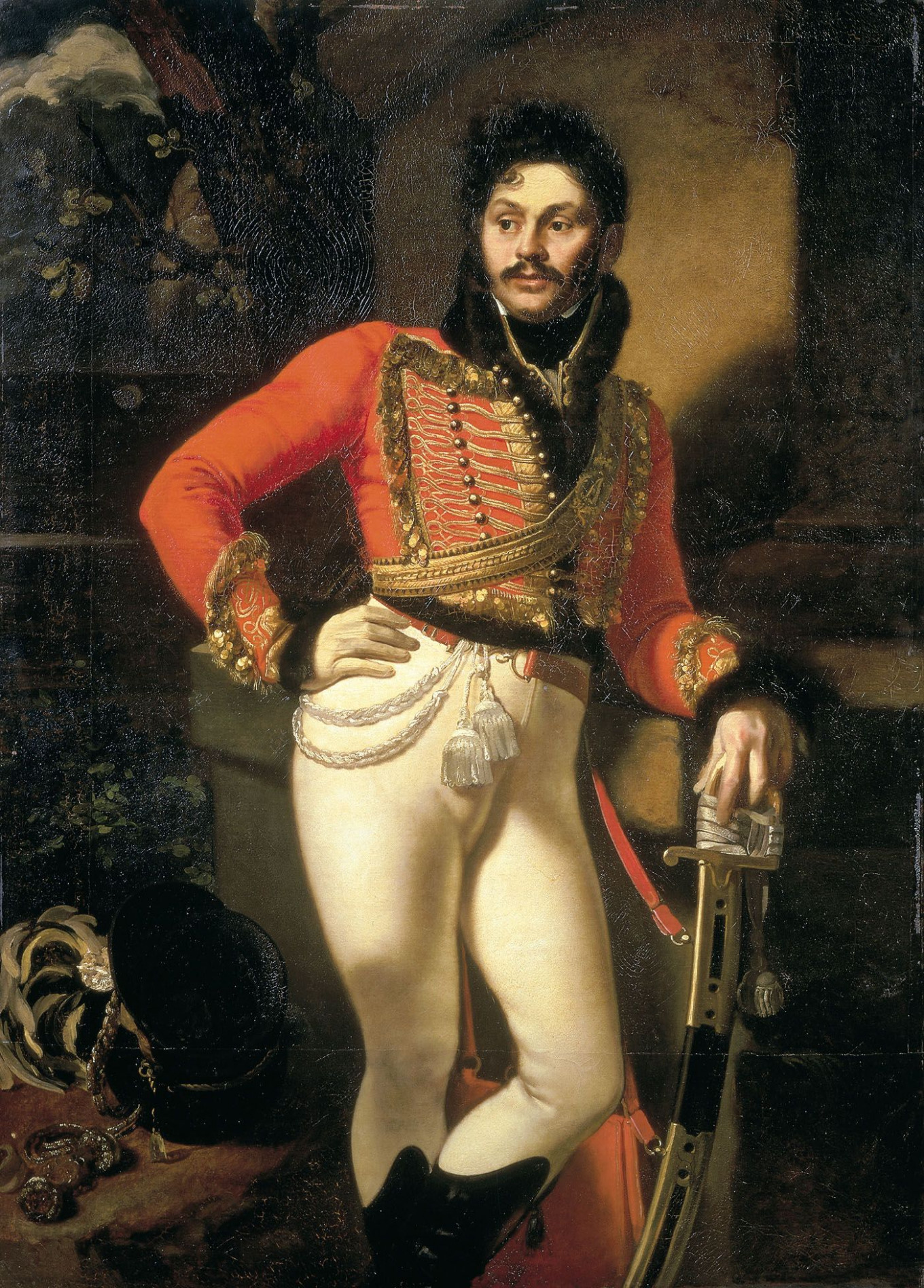 Yevgraf Davydov in the uniform of a Life Guard Hussar Wikimedia Commons