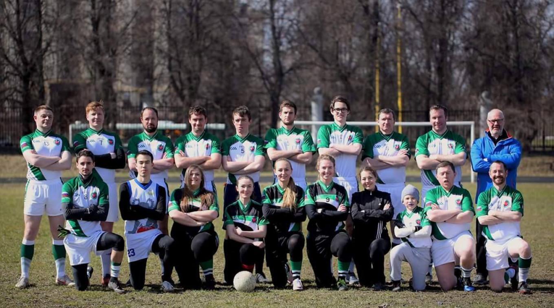 Members of the Moscow Shamrocks Gaelic football team. The Moscow Shamrocks