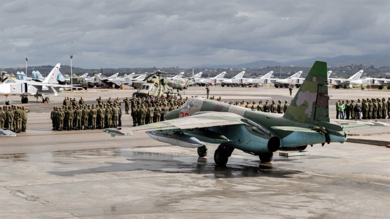 Russia Launches New Air Base in Former U.S. Syria Stronghold - The Moscow Times