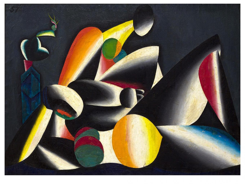 """""""Two Women,"""" Oleg Tselkov, 1957 AZ Museum"""