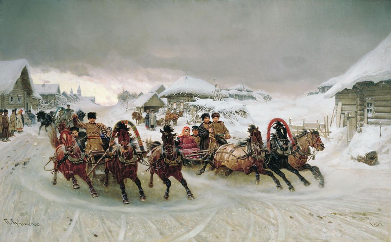 """""""Maslenitsa"""" by Pyotr Gruzinsky, 1889 Wikicommons"""