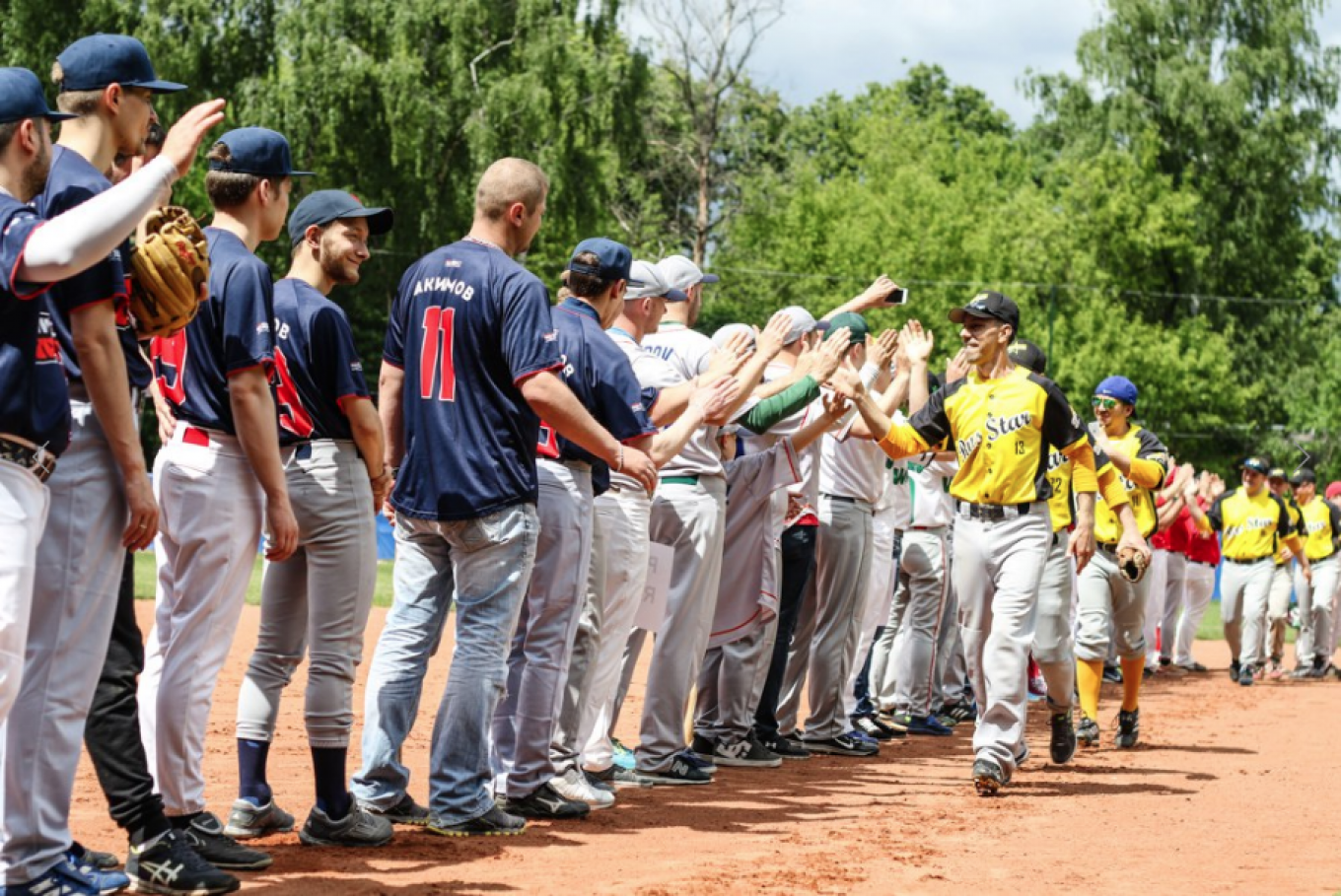 Baseball is trying to carve out a niche in Russia.  Natalya Gutovskaya
