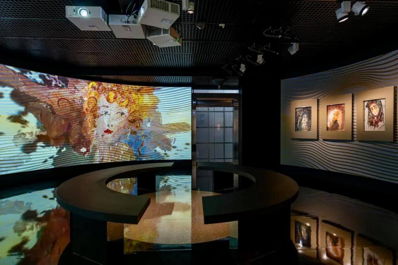 Video installation celebrating the works of Zverev by Plato Infante AZ Museum