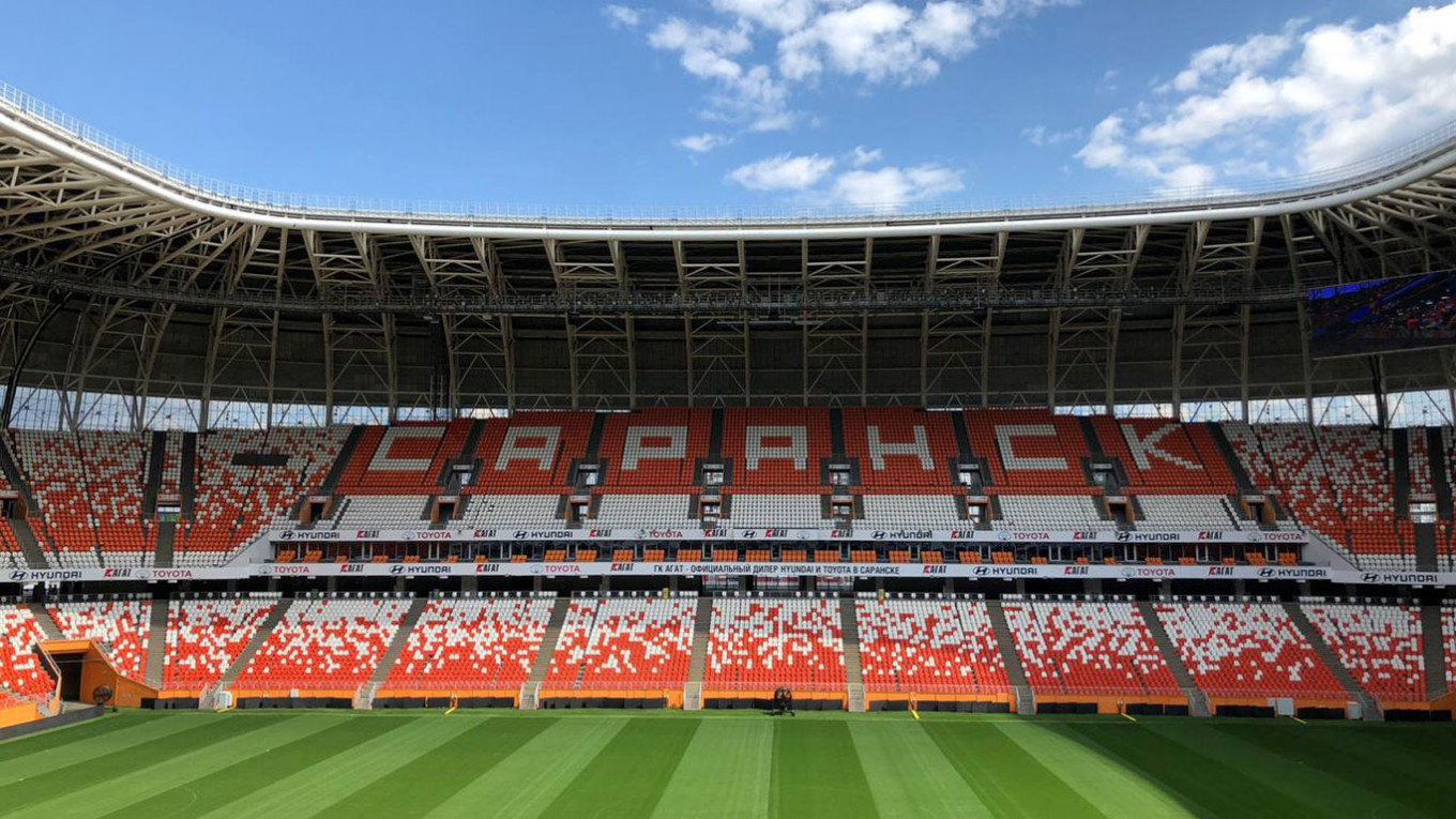 The Mordovia Arena hosted four World Cup games in 2018. Jake Cordell / MT