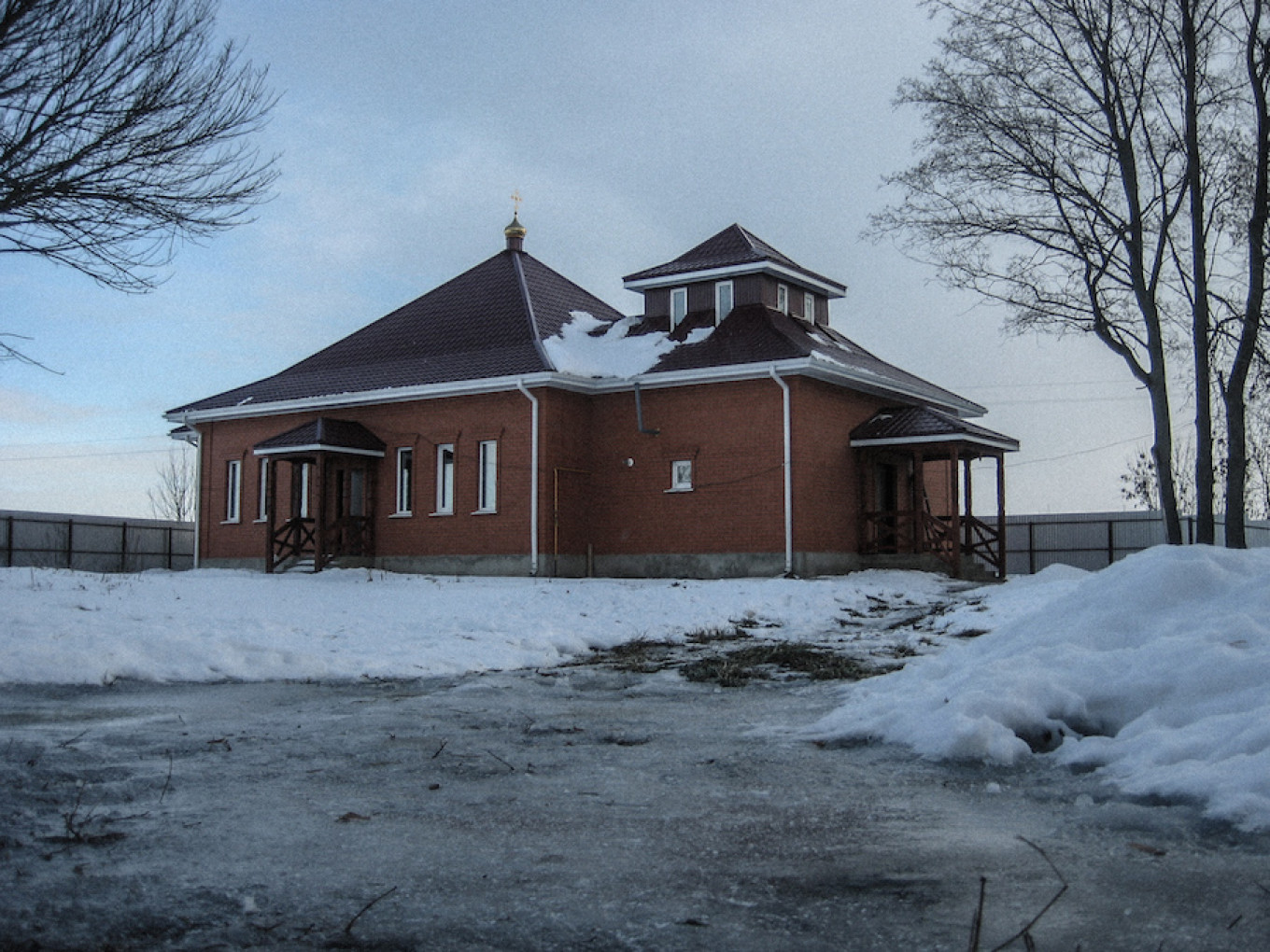 The church at Pokrov center is the weekly venue for exorcism rituals.    Diana Khachatryan