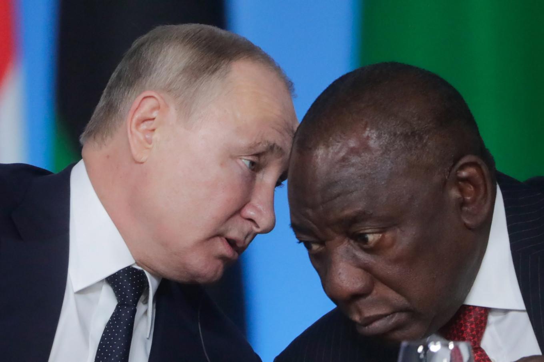 Vladimir Putin and South Africa's President Cyril Ramaphosa. Valery Sharifulin / TASS Host Photo Agency