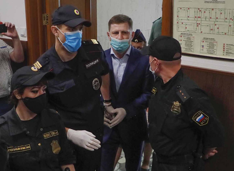 Sergei Furgal in a Moscow court last Friday. Maxim Shpienkov / EPA / TASS