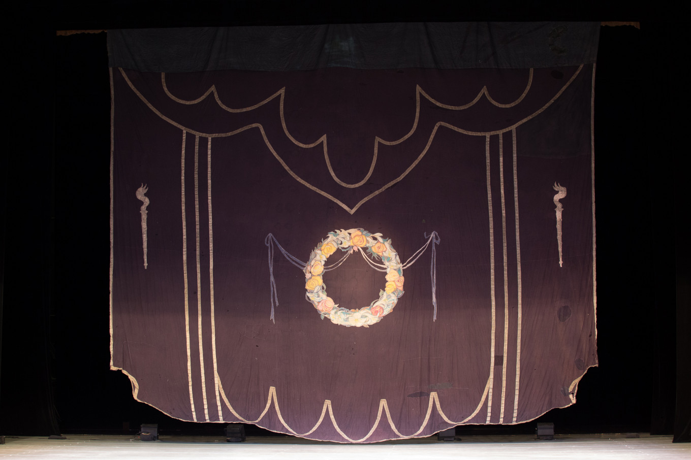 """The original """"mourning curtain"""" from the 1917 production. Photo permission provided by the press service of Alexandrinsky Theater."""