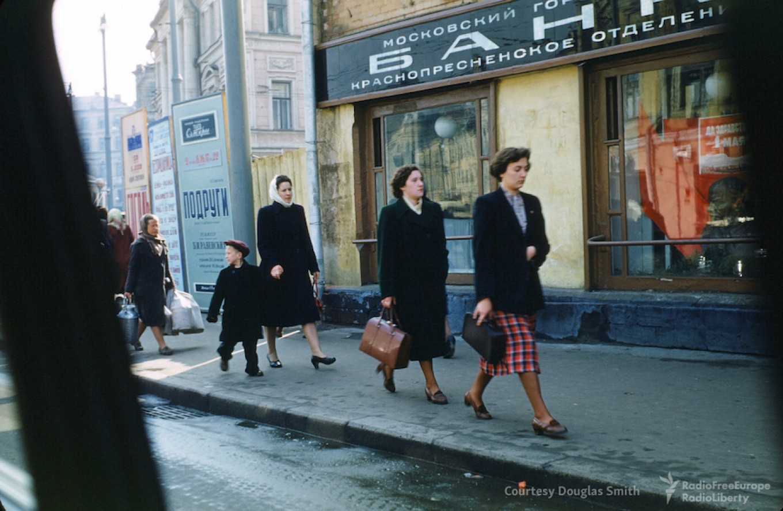 A street scene in central Moscow. Martin Manhoff / Douglas Smith
