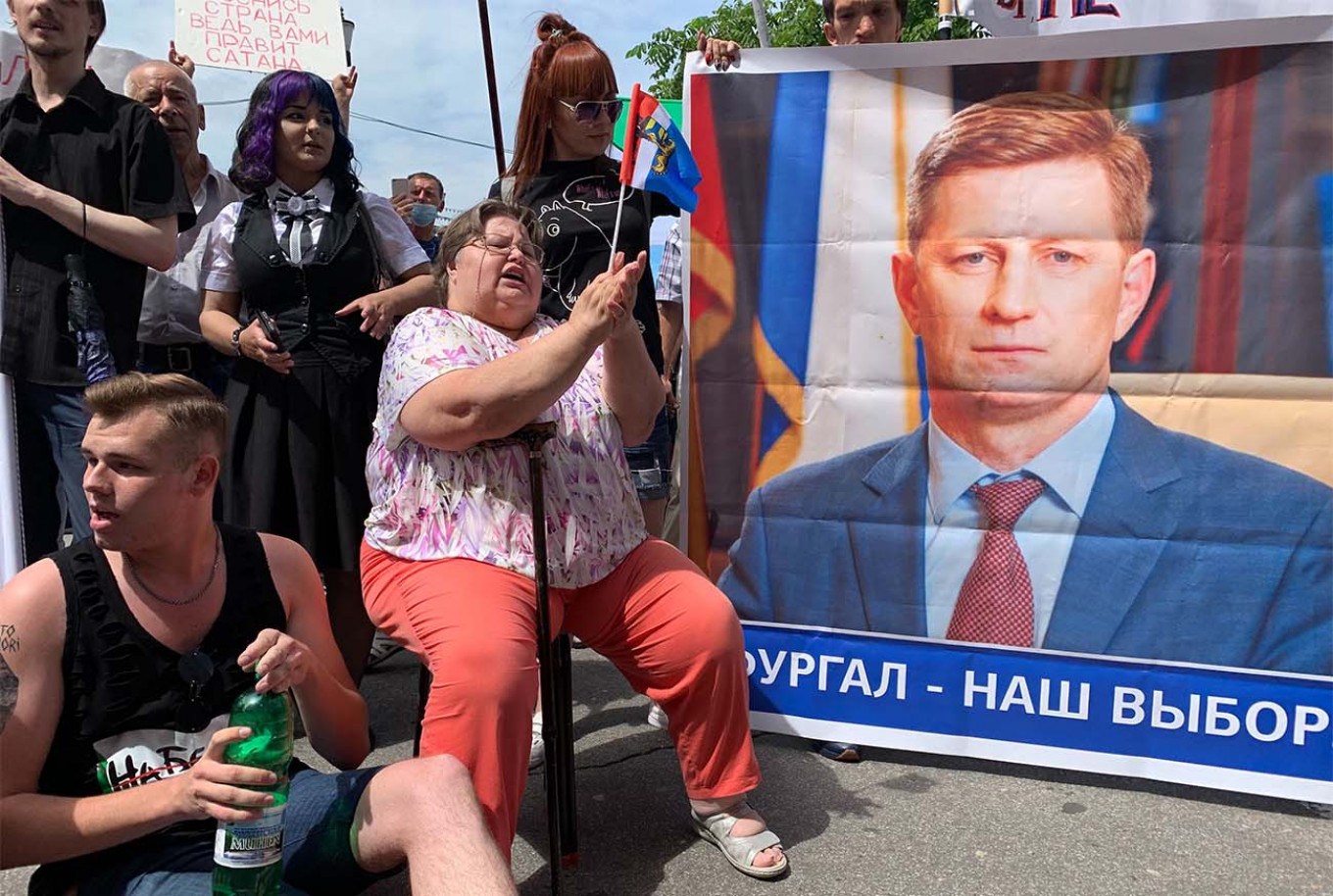 """Khabarovsk's protest movement in support of the """"people's governor"""" has morphed into anti-Kremlin discontent. Evan Gershkovich / MT"""