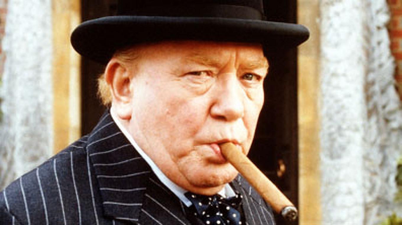 "Albert Finney as Winston Churchill in ""The Gathering Storm."" bbc.com"
