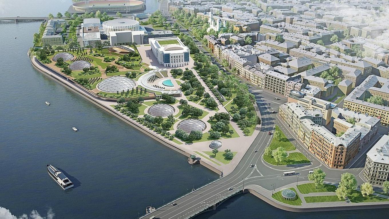 A design concept for the new Tuchkov Buyan Park. gov.spb.ru
