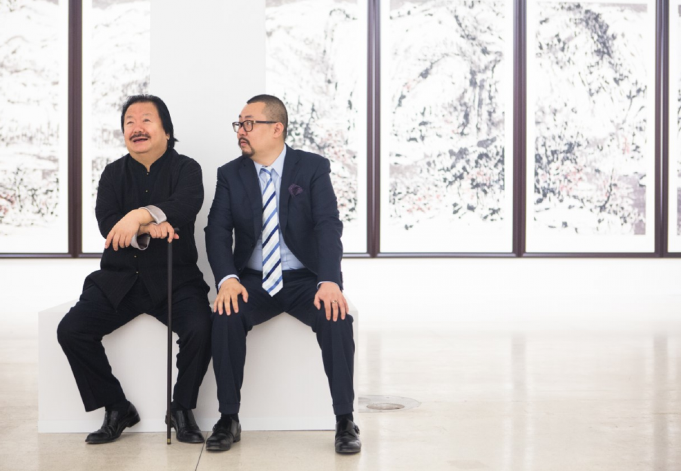 Cui Ruzhuo (left) is still remarkably productive as an artist, even at 72-years-old. Moscow Manege