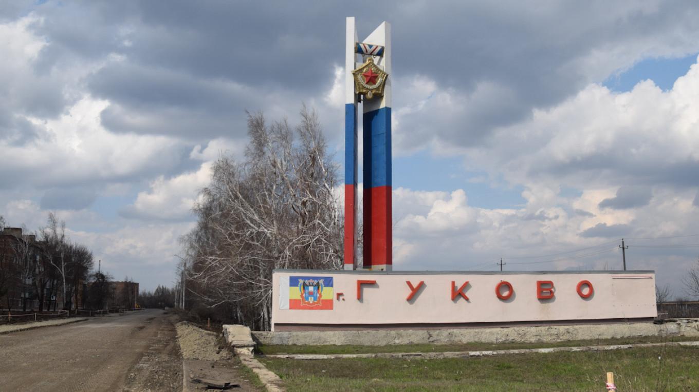 A sign welcomes visitors to Gukovo. Pjotr Sauer/MT
