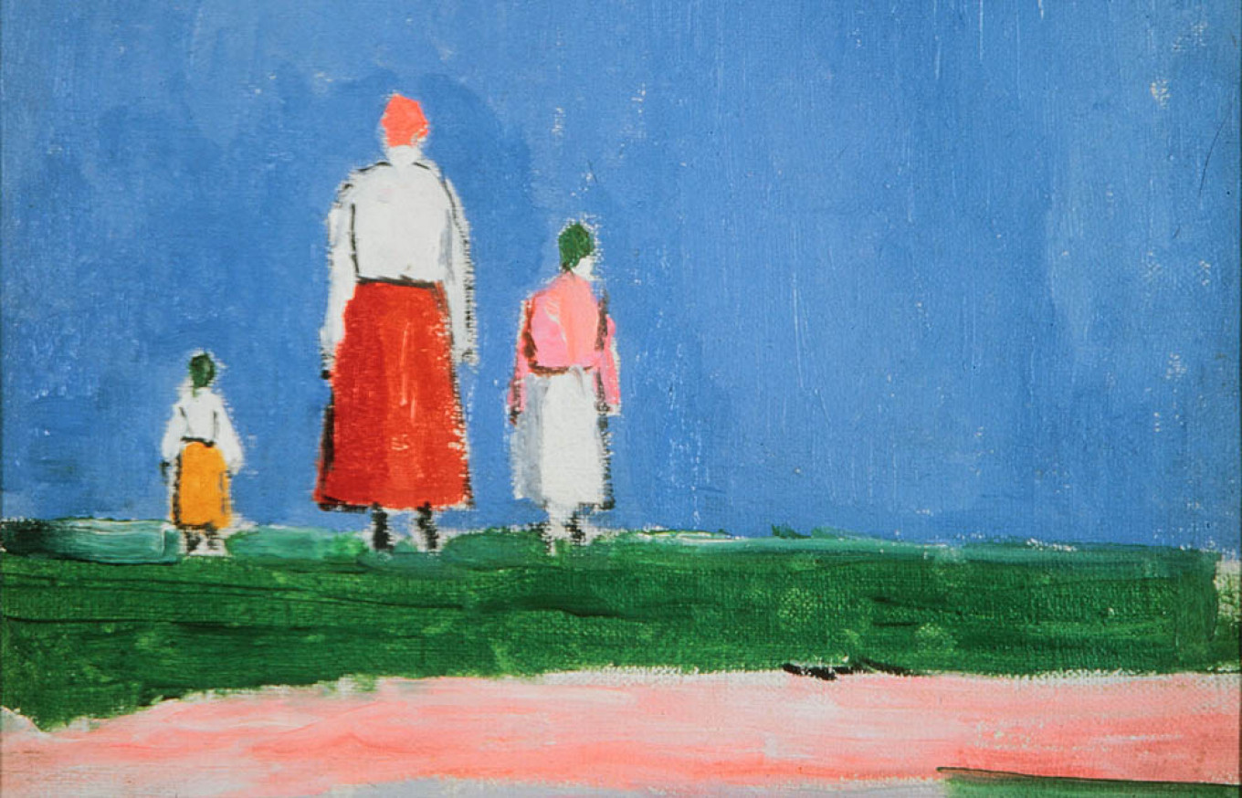 Kazimir Malevich: Three Figures in a Field / Press Service by VDNH