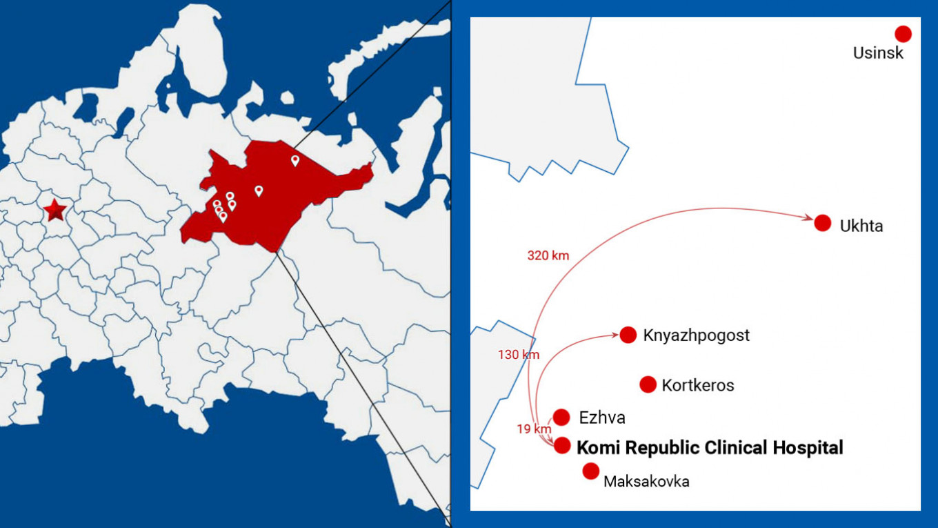 The coronavirus spread quickly across the sparsely populated Komi Republic.				 				MT