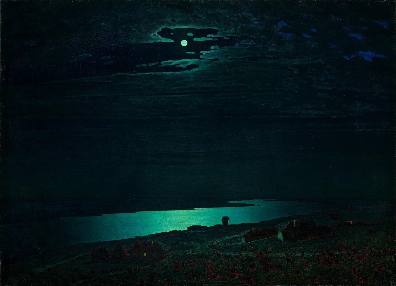 """""""Night on the Dnieper"""" 1882 Arkhip Kuindzhi Courtesy of Tretyakov Gallery"""
