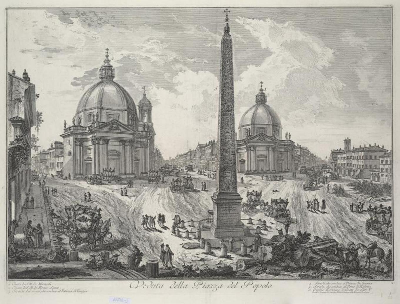 A view of Piazza del Popolo, Giovanni Battista Piranesi Pushkin Museum