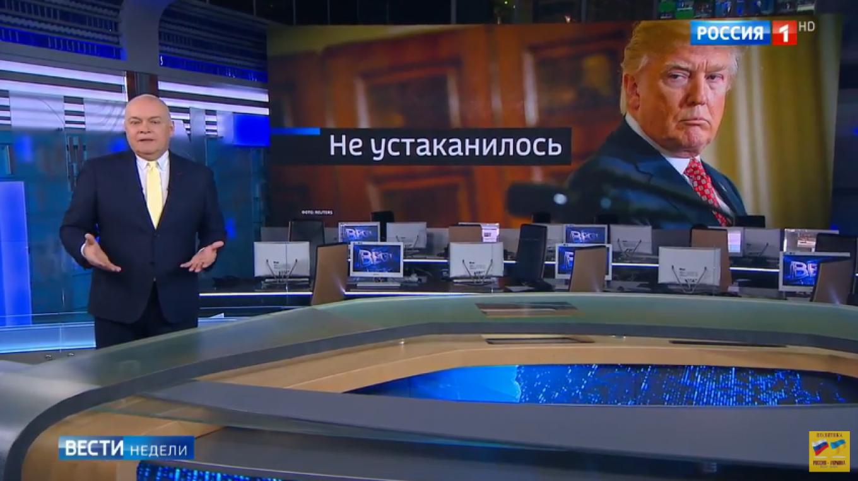 """""""Not settled in yet"""": Dmitry Kiselyov passes his verdict on Trump's administration Vesti Nedeli"""