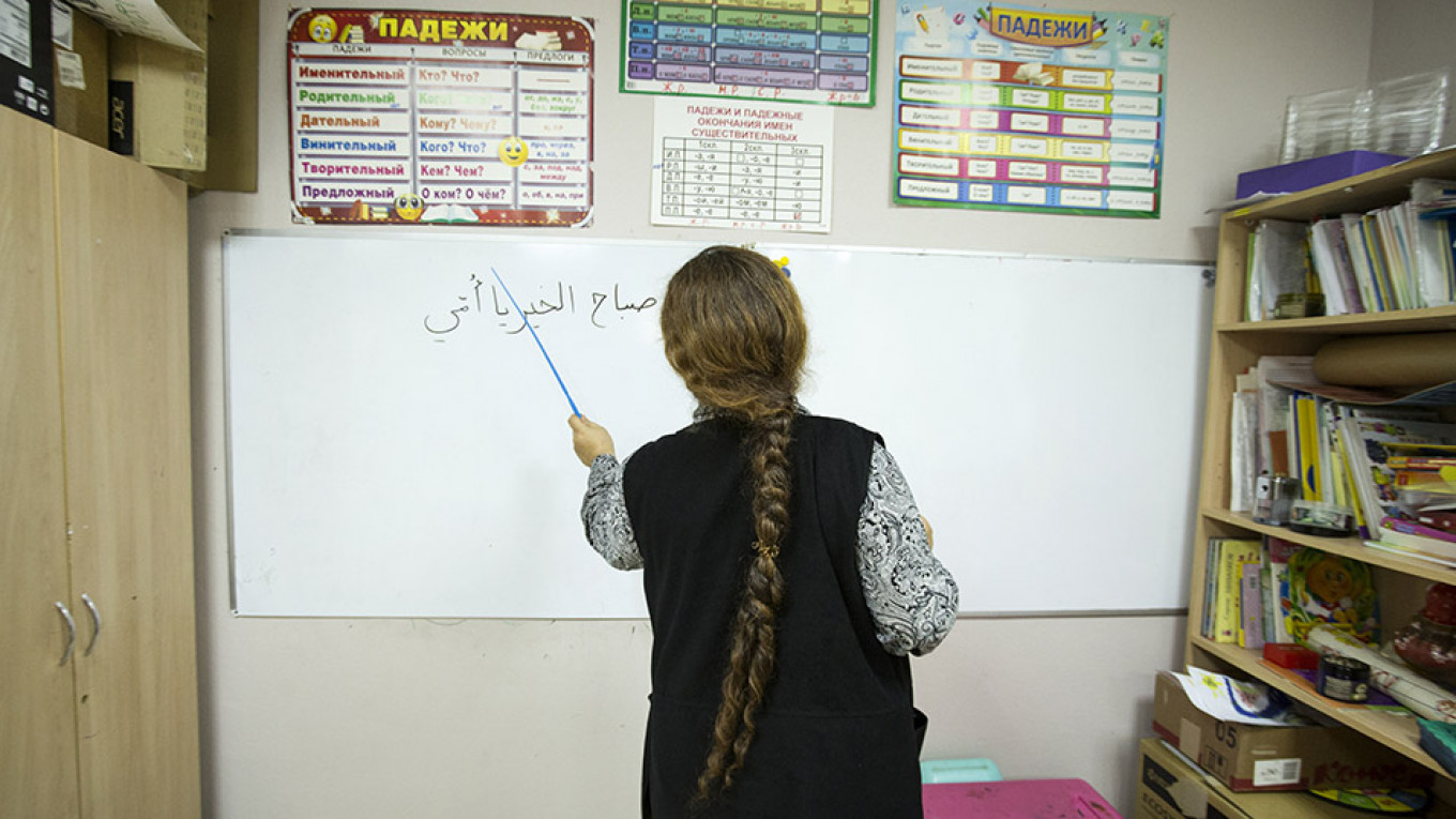 """Every year Safa considers going back to Syria, but when she speaks with friends at home, """"if they have a way to get out, they get out."""" Ksenia Yablonskaya / MT"""
