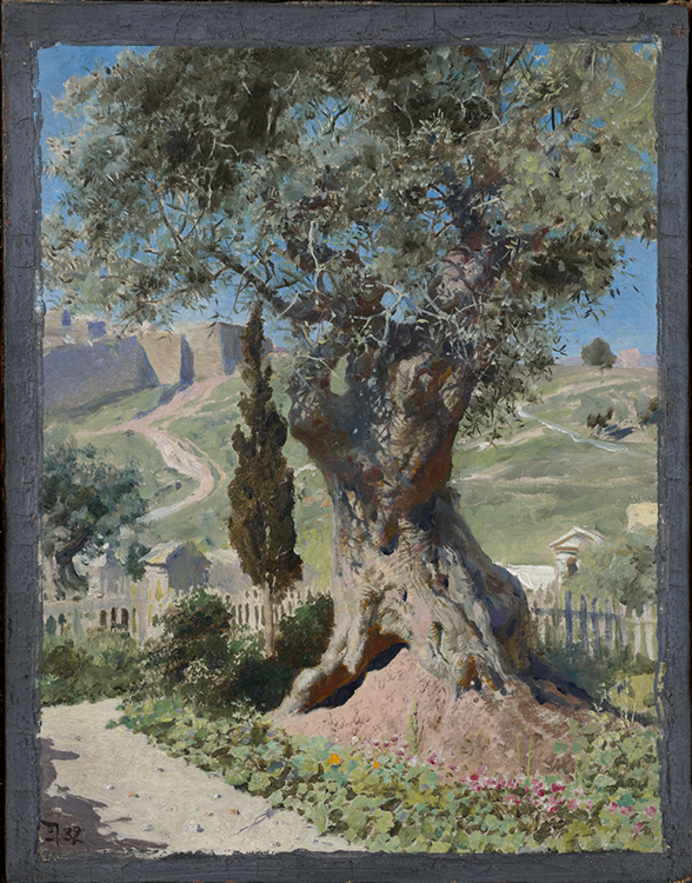 """Olive Tree in the Garden at Gethsemane"" 1882				 				Courtesy of the State Tretyakov Gallery"