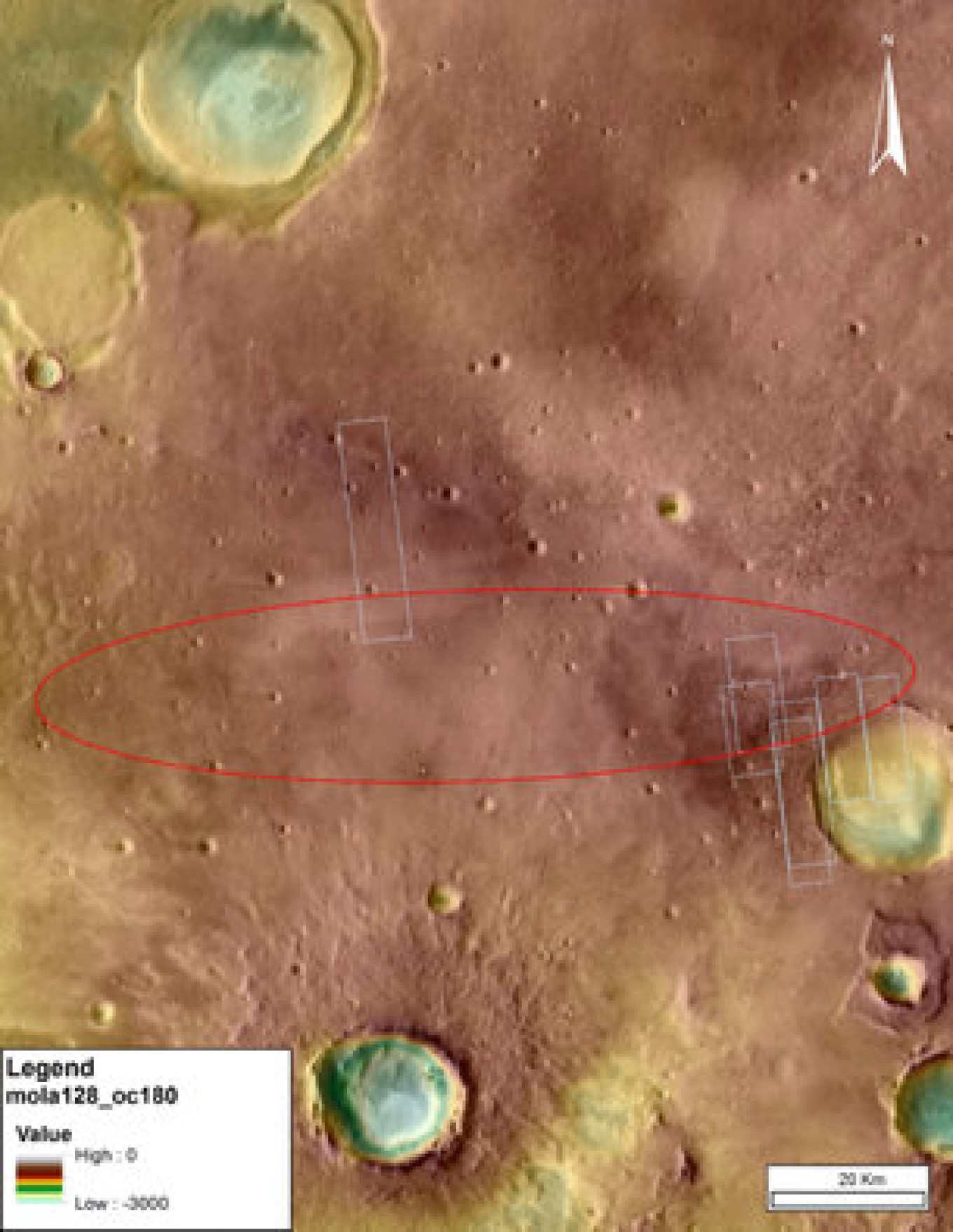 Map of Schiaparelli's designated landing zone European Space Agency