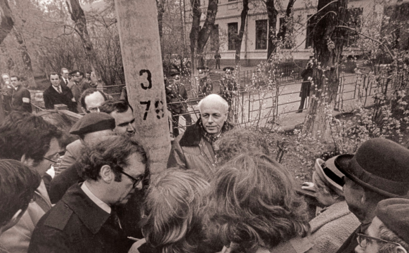 On his return from exile, Sakharov became a leading figure of the perestroika era. Courtesy of the Sakharov Center