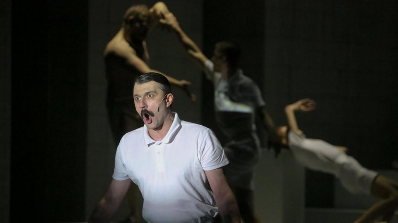 "Actor Ilya Barabanov performing in ""Norma"".  Sophia Sandurskaya / Moskva News Agency"