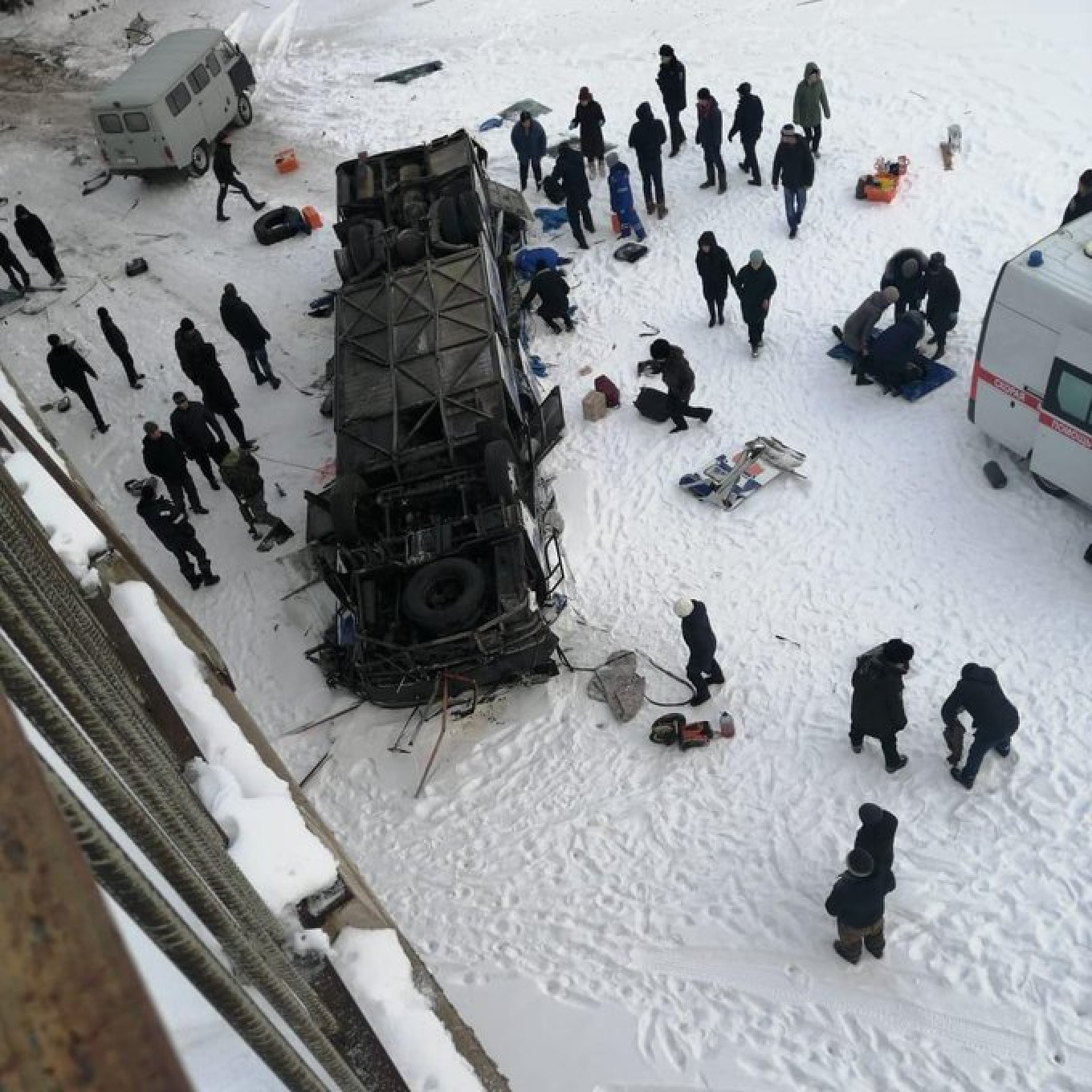 Image result for 19 people killed in bus crash in Russia's far east