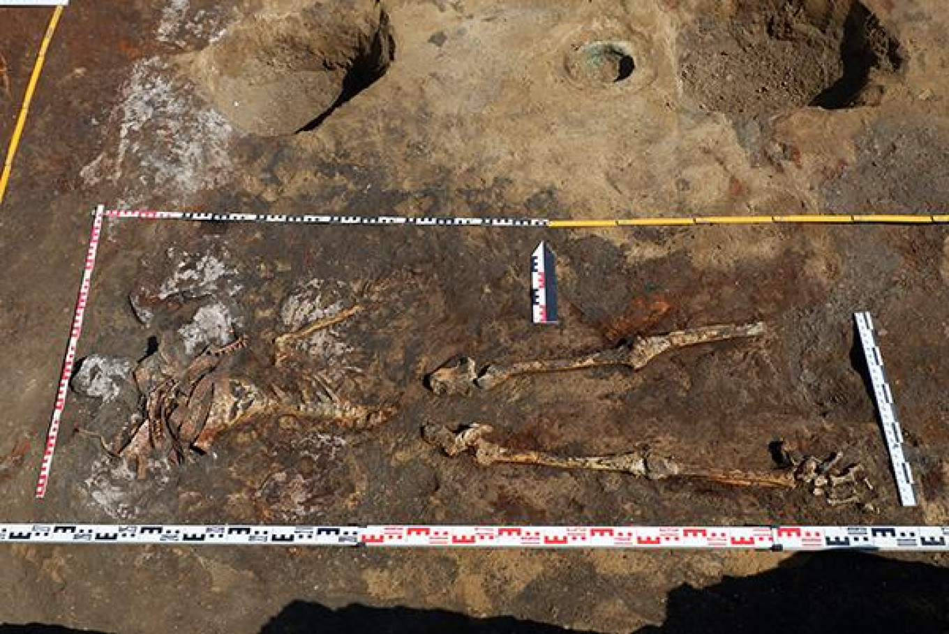 The four Amazon women warriors were afforded the same burial rites as their male counterparts, lead archeologist Valery Gulyayev said. RAS Institute of Archeology