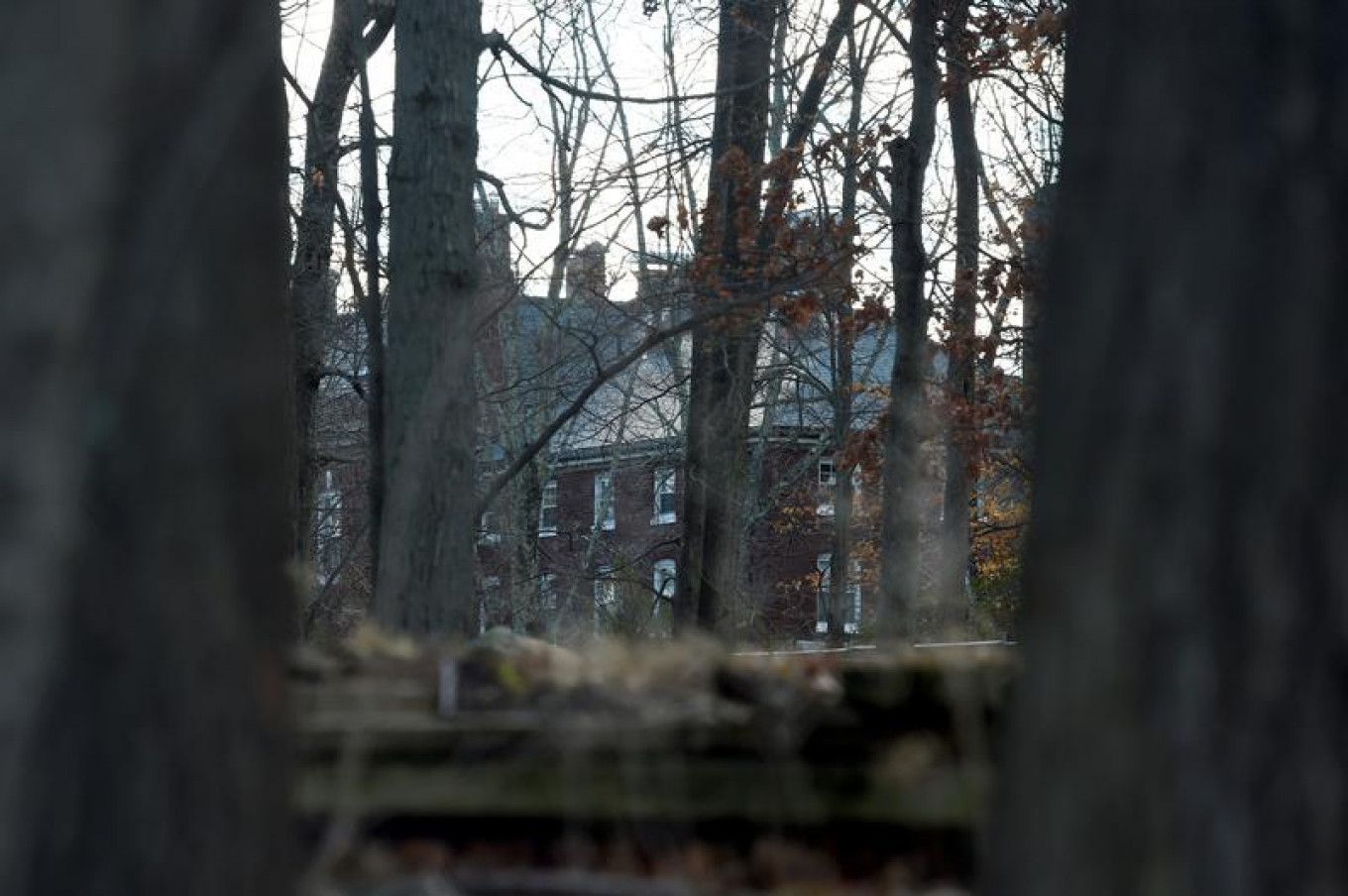 A Russian compound, which was ordered to be closed and vacated, is seen in Long Island on Dec. 30, 2016.				 				Rashid Umar Abbasi / Reuters