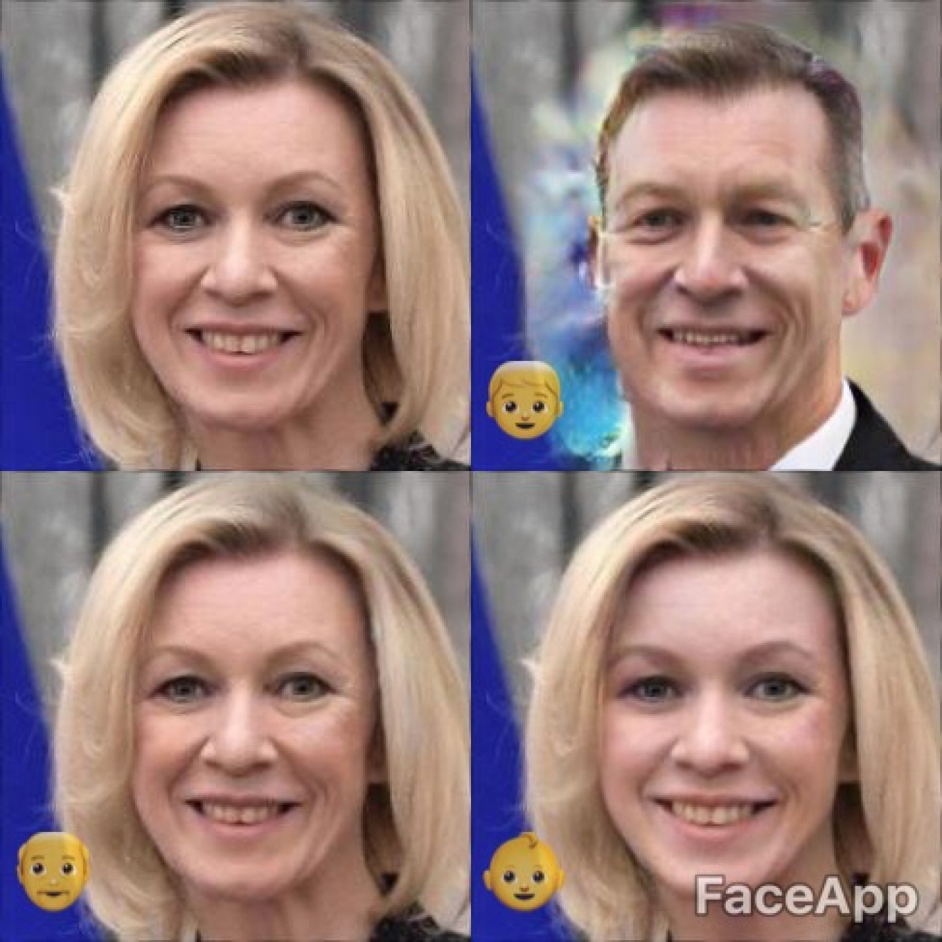 She's not a household name outside Russia, but meet Maria Zakharova, Russia's Foreign Ministry spokesperson, as a man, an old woman, and a girl.				 				Kremlin Press Service