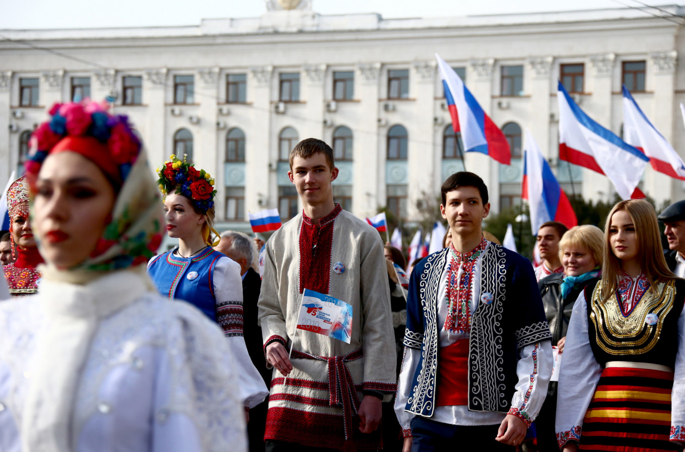 Thousands March in Crimea to Mark Fifth Anniversary of Russia's Annexation