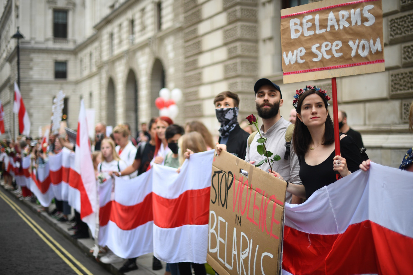 Parts of the Belarusian diaspora — here in London — have come out in support of the protests. Many would be prepared to invest in a post-Lukashenko Belarus, entrepreneurs who have already emigrated told The Moscow Times.				 				PA Wire