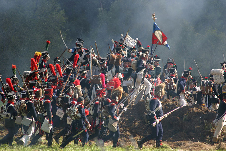 The 1812 Battle of Borodino rages.  Archive International Military Historical Association