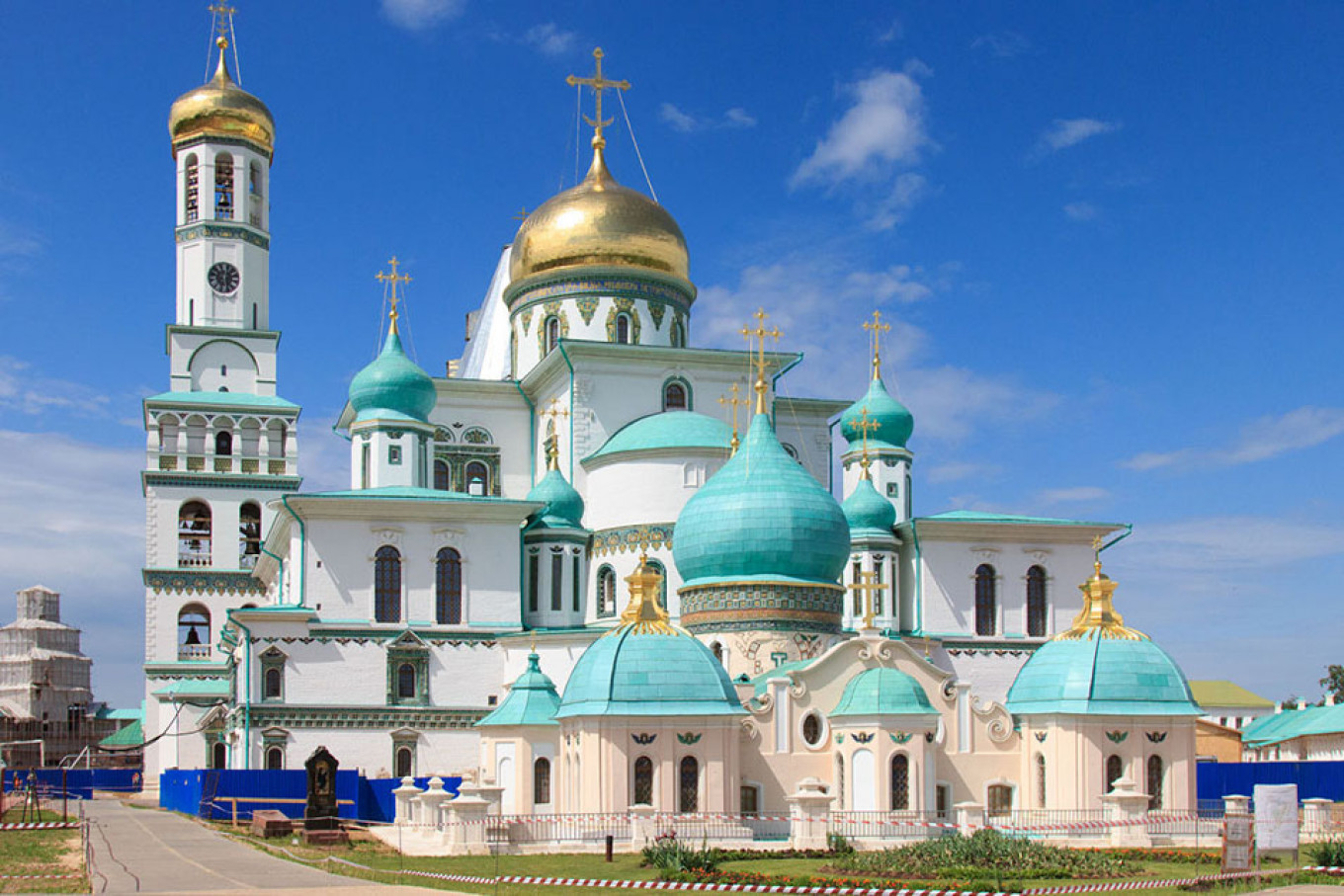 """The monastery where much of Sharov's """"The Rehearsals"""" takes place. The New Jerusalem Monastery / Youtube"""