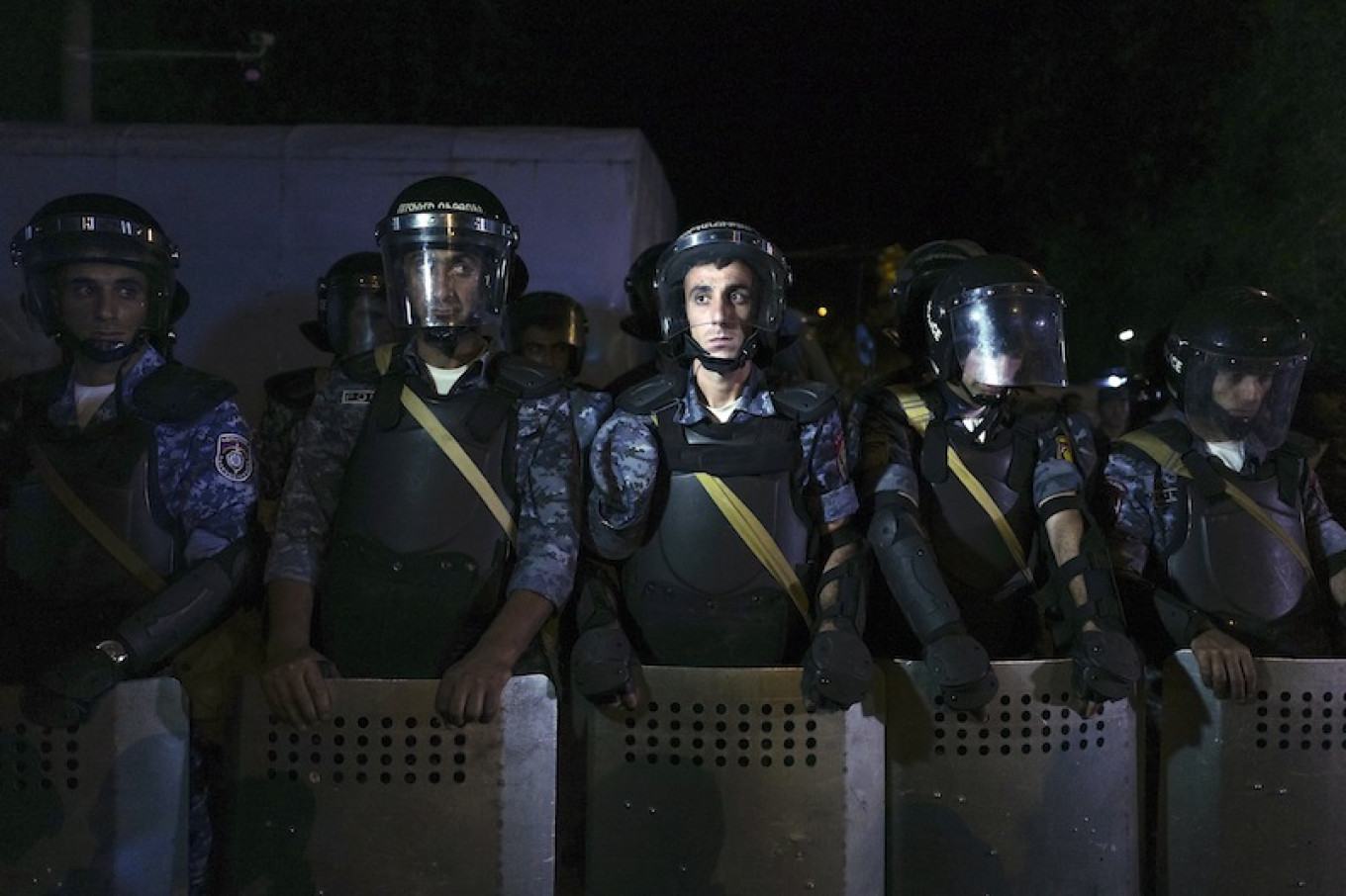 The police enjoyed little public support. Not even the news that two of their number had been killed was enough to move people to their side. Vahan Stepanyan / AP