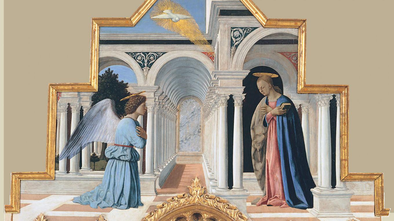 """""""Annunciation"""" by Piero della Francesca  Courtesy of Hermitage Museum"""