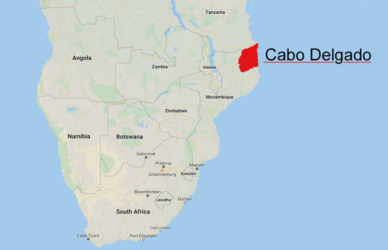 Cabo Delgado. Google Maps / MT
