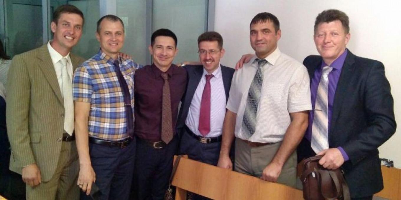 Alexei Budenchuk, Konstantin Bazhenov, Felix Makhammadiev, Alexei Miretsky, Roman Gridasov and Gennady German jw-russia.org