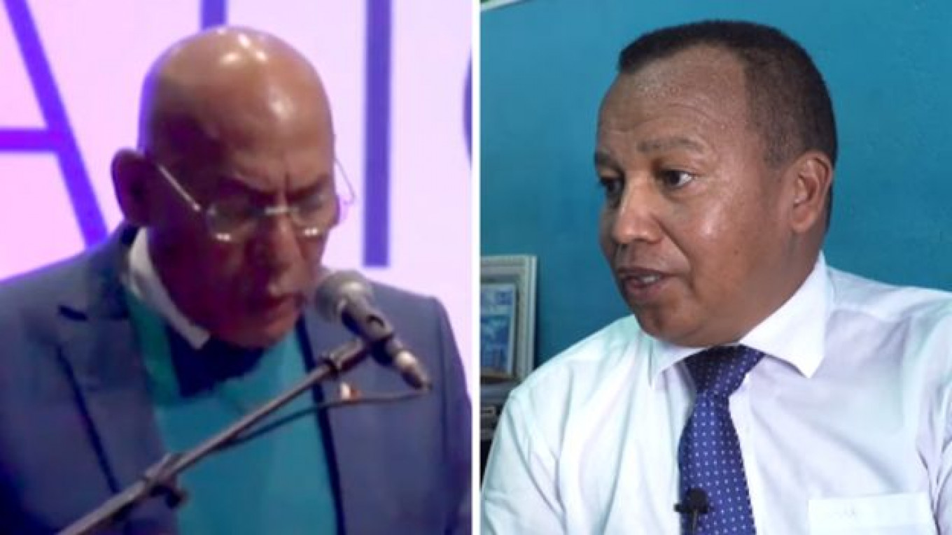 Former Prime Minister of Madagascar Jean Berisiki and Pastor Andre Christian Mailhol				 				BBC