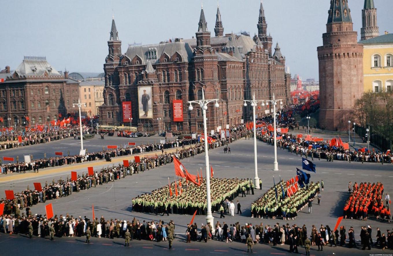 A celebration on Manezhnaya Ploshchad, Moscow. From the Manhoff Archives. Major Martin Manhoff/ RFE/RL