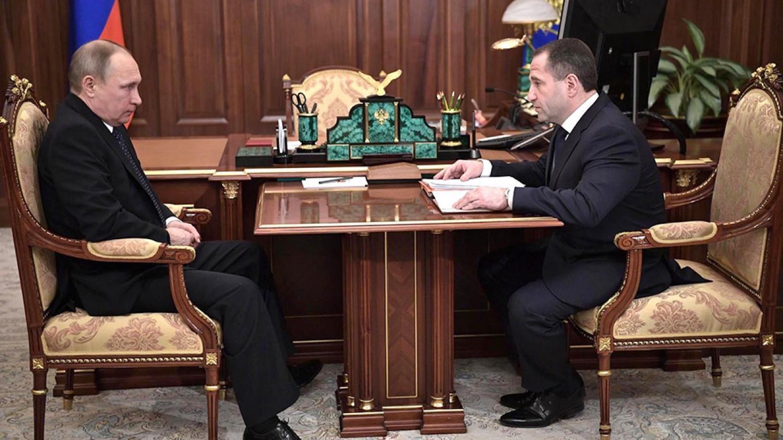Vladimir Putin and Mikhail Babich Kremlin.ru