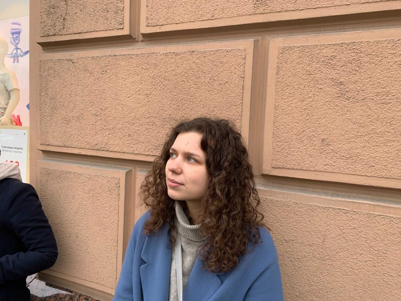 Anna Zhurovskaya said she came to show solidarity. Pjotr Sauer / MT