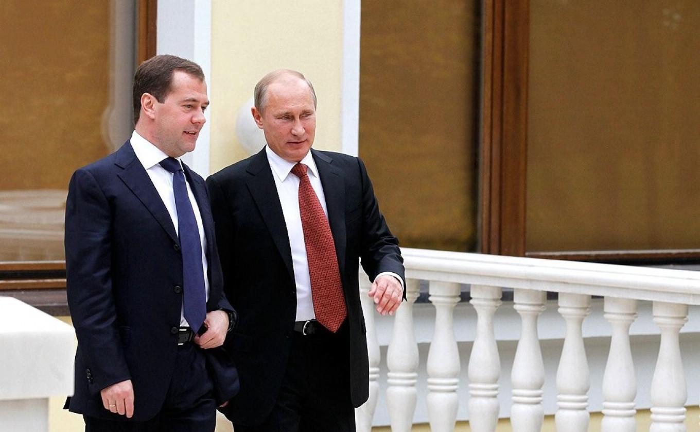 Dmitry Medvedev and Vladimir Putin Kremlin.ru