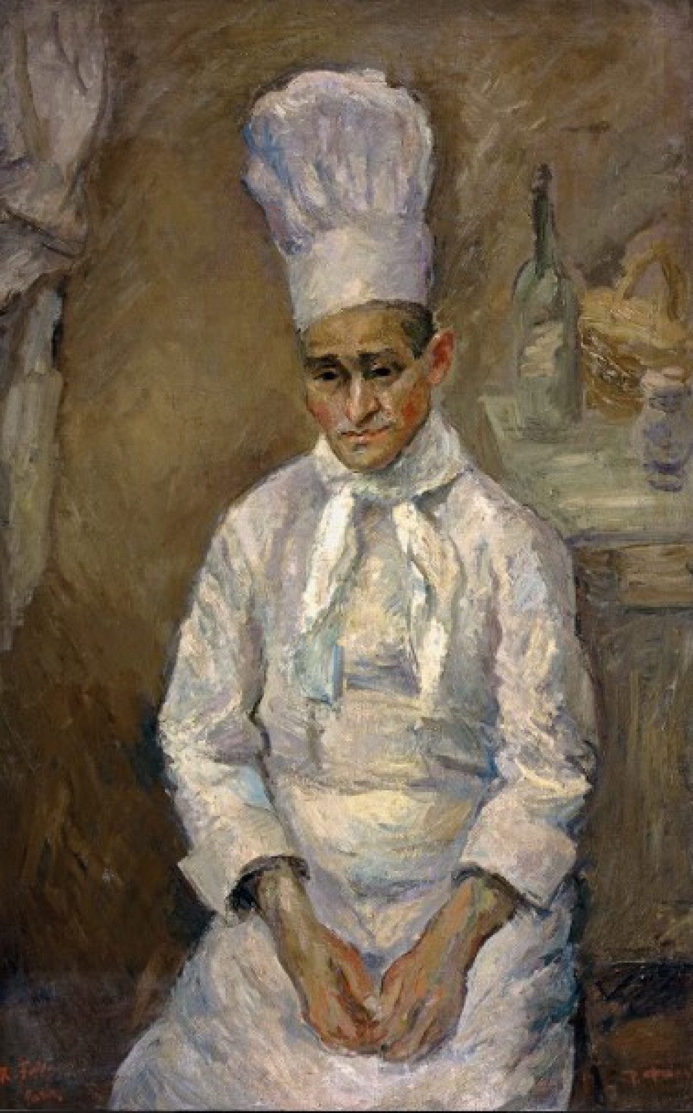 """""""Chef"""" by Robert Falk (1932) from the collection of Abram Chudnovsky, now in KGallery Museum of Russian Impressionism"""