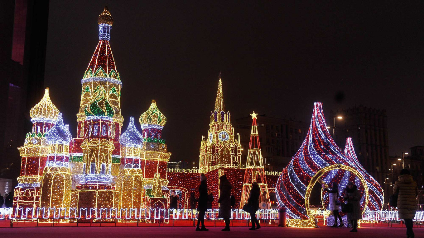 Moscow's New Year Decorations Light Up the Winter Season