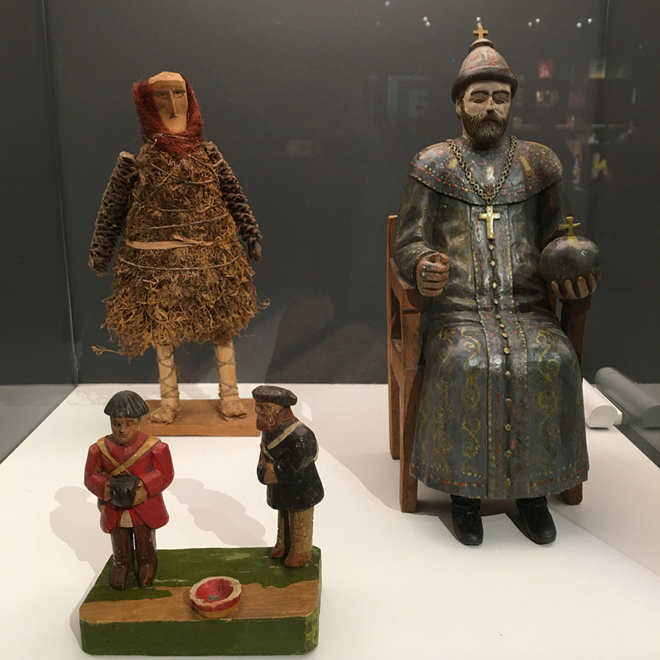 Toys from Costakis' collection, including one of Nicholas II from Nizhny Novgorod. Michele A. Berdy / MT